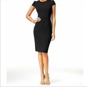 Betsey Johnson Puff Sleeve Scuba Dress in Black